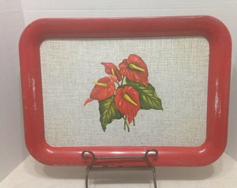 Vintage 1950's Calla Lily Tray, Vintage Trays, Vintage TV Trays, 1950's, Snack Trays, Calla Lily Motif, Casual Dining Trays