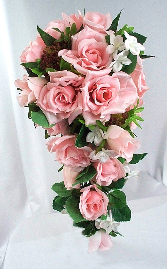 Pink bouquet rose wedding bouquet silk wedding flowers hot pink bouquet rose wedding bouquet silk wedding flowers hot pink wedding magenta wedding wedding accessories mightylinksfo