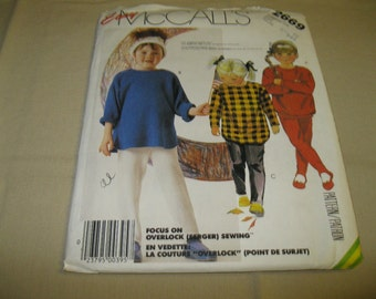 McCall's Easy Pattern #2669 - Child's Sizes 3-4-5 - Children's Top and Pants