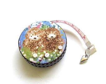 Measuring Tape Flowers and Hedgehogs Retractable Tape Measure
