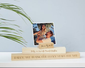 Personalised Father's Day Photo Block