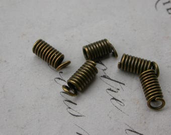 set of 30 spring bronze caps