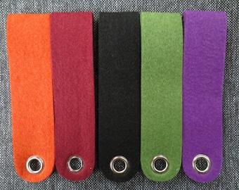 Set of 5 strips of felt 15 x 3,5 cm - # 53 388 999 rayher beads