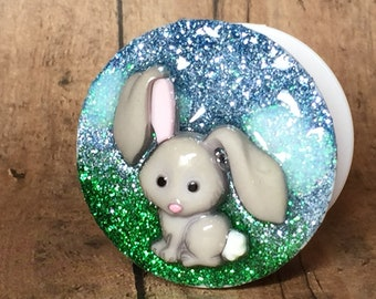 Bunny Glitter Phone Stand, Pop Up Stand, Phone Accessory, 3-D Phone Stand, Glitter Phone Stand, Rabbit Phone Stand