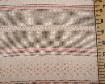 Neutral Horizontal Stripe Fabric
