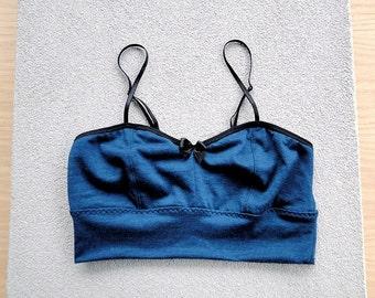 Wool bralette, merino wool knit bra, made to measure clothes, custom wool underwear, handmade lingerie shop