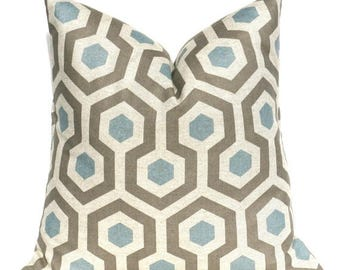 15% Off Sale Blue pillow, Blue Pillow Cover, Gray Pillow, Honeycomb, Throw Pillow Covers, Accent Pillows, Sofa Pillows, grey pillow, Gray pi