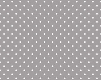 Stokke Sleepi Crib Skirt - Swiss Dots in Taupe/Gray - Ready to Ship