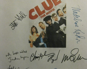 Clue Signed Movie Film Script Screenplay Autographs X12 Madeline Kahn Tim Curry Christopher Lloyd John Landis Eileen Brennan Martin Mull