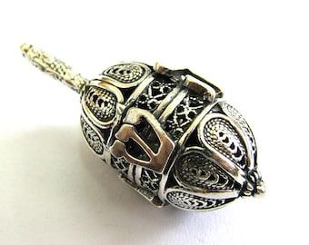 925 Sterling Silver, Filigree Dreidel, Hanukkah Gift, ,Judaica, Hanukkah Game, Jewish Gift, Silver Dreidel, Hanukkah Dreidel, ID933