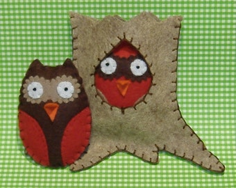 The Owl and Hollow Tree PDF Pattern