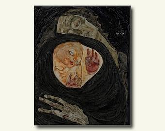 Fine Art Paper - Dead Mother 1910 - Egon Schiele Print Schiele Poster Gift Idea Schiele Art Print bp