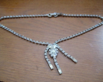 Vintage ASTRA by Joseph Wiesner Choker in Crytal Navette Baguette and Chaton Rhinestones