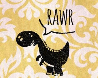 T-Rex Dinosaur Stamp: Wood Mounted Rubber Stamp