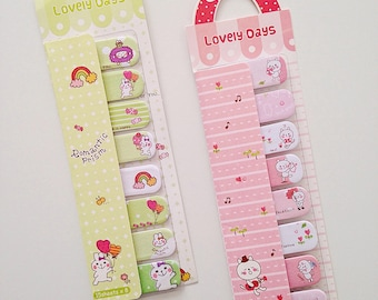 Bunny rabbit cat cute kawaii kitsch stick markers post it sticky notes