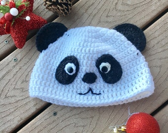 Crochet panda hat- Crochet hats, Crochet animal hats, Crochet Bear Hats, Crochet Kids Hats, Crochet Panda Hats,