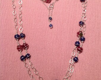 925 sterling silver chain necklace lapis lazuli morganite