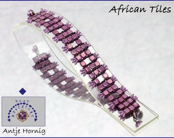 African Tiles, Kit, Armband, Anleitung und Material
