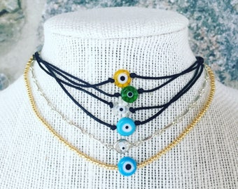 Evil eye chokers/necklaces