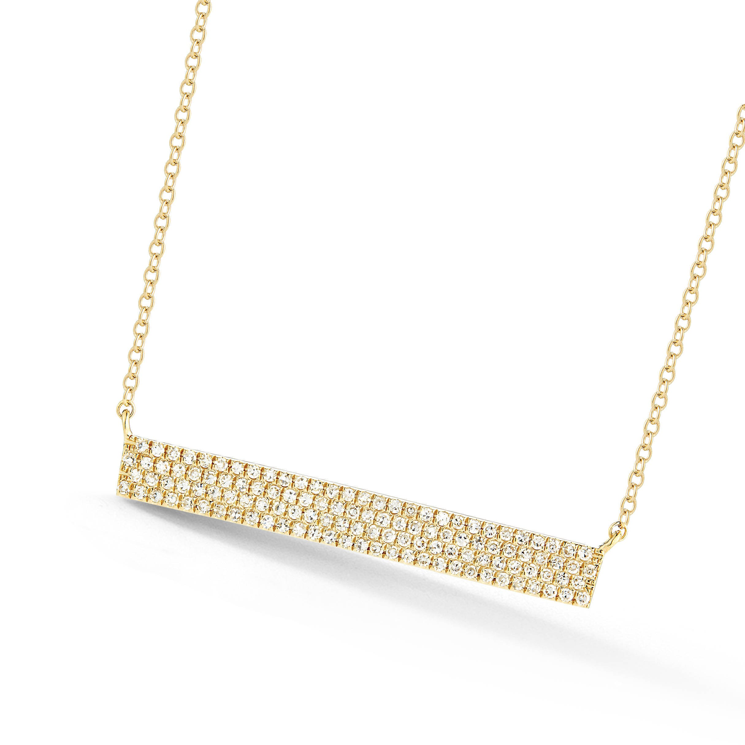 diamond mini karat rose bar necklace multi htm gold