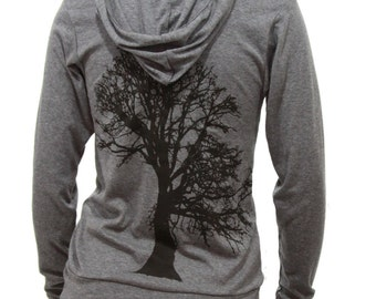 Oak Tree | Unisex lightweight soft full zip hoodie