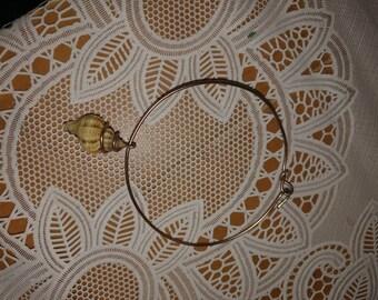 Seashell Bangle Bracelet