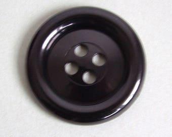 SALE Extra Large Button - Black - haberdashery, sewing, knitting, crochet