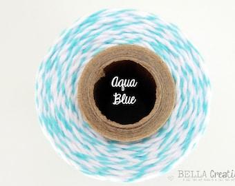 SALE - Aqua Blue Bakers Twine  by Timeless Twine
