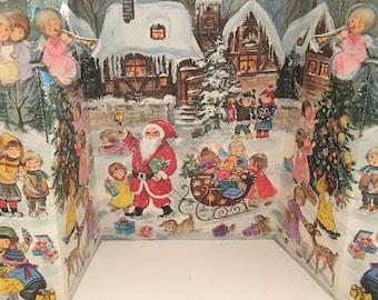 Vintage Advent Calendar Christmas Glittered NOS Unused Western Germany