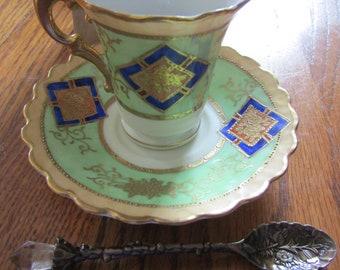 Stunning Royal China Tea Set With Rooibos Tea and Crystal Wand Spoon