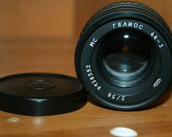 MC Helios 44-3 58 mm f/2 M42 vintage Soviet Lens. Soviet vintage lens   EXC + CAP