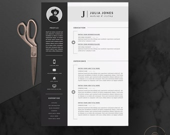 """Professional Resume Template & Cover Letter + Icon Set for Microsoft Word 