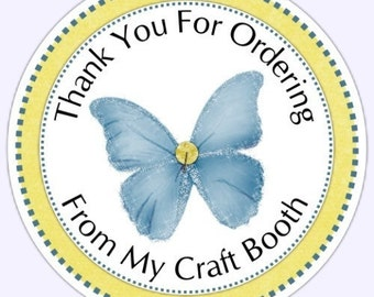 Custom Thank You Labels, Thank You for Ordering Stickers - Personalized for YOU