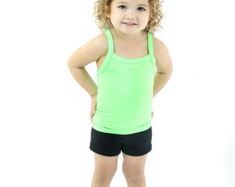 Basic Solid Colored Tank Tops for Toddlers and Girls