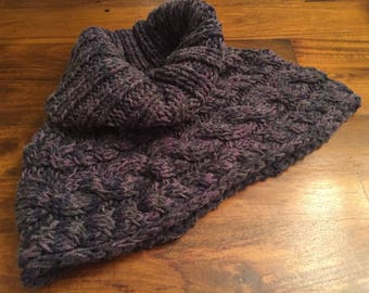Chunky Cowl neck Cape Scarf