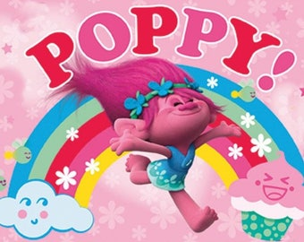 Trolls Poppy Edible Party Cake Image Topper Frosting Icing Sheet