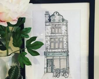 Business  or shop premises illustration