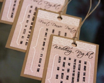 Lace Bridal Shower Wine Poem Tags, set of 6