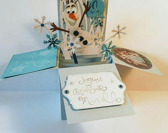 pop up happy birthday snow Queen card