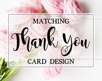 Coordinating Thank You Card ADD ON