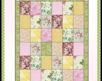Downloadable Patch Happy -  Fat Quarter Quilt Pattern