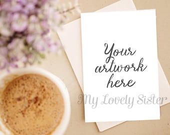 Greeting Card Stock Photo, lavender, coffee, rustic, Instant Download, Digital Download Photo, Styled Background, Stock images,stock photos