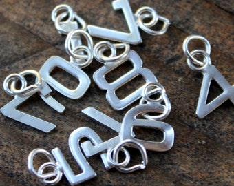 Number in Sterling Silver Small