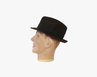 Vintage 60s Men's Fedora / 1960s Dobbs Twenty High End Guild Edge Short Brim Gray Hat 7 3/8