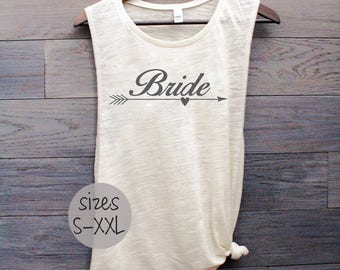 Bride tank, bride shirt, bride to be, wedding day shirt, wedding shirt, plus size bride, muscle tank, i do, bachelorette gift, married life