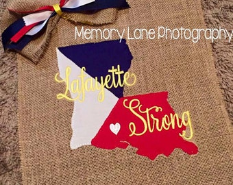 Lafayette Strong Applique FUNDRAISER PERSONAL USE - Instant download