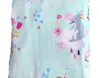 Unicorn crib sheet - blue baby bedding - woodland crib sheet - gold baby bedding - pink baby bedding - unicorn
