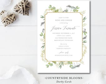 Countryside Blooms Invitations