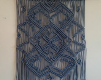 Woven wall hanging, Blue, Tapestry wall hanging, Living room decor, Bedroom decor, Wall tapestry, Large wall art, Bohemian tapestry, Gift