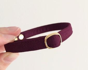 Burgundy Breakaway Cat Collar